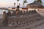 Rendition of the Last Supper made in a Sand Castle - La Paz, Baja California Sur, Mexico