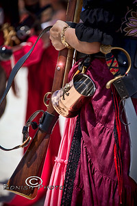 Polished Rum Mug and a Blunderbuss Flintlock - Cedar Key Pirate Fest - Photo by Pat Bonish