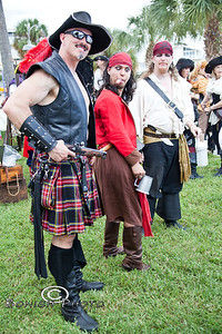 Pirates Having Fun in the Park - Cedar Key Pirate Fest - Photo by Pat Bonish