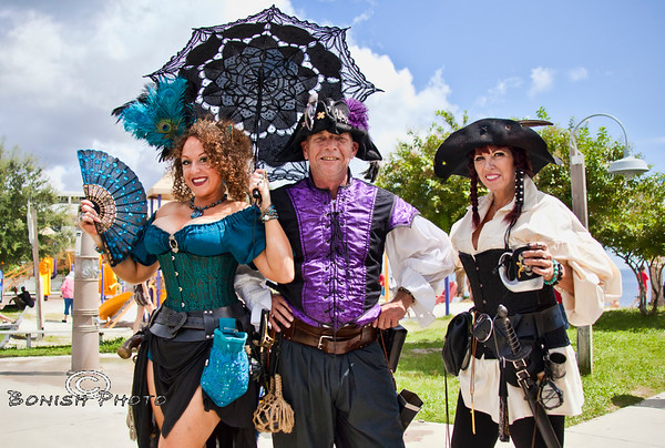 Such a colorful bunch at the Cedar Key Pirates Fest - Photo by Pat Bonish