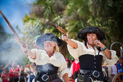 You DO NOT want to mess with the Pirate Wench's - Cedar Key Pirate Fest - Photo by Pat Bonish