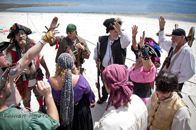 Raise your hand if you love Pirates - Cedar Key Pirate Fest - Photo by Pat Bonish
