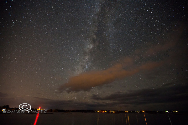 Milky Way over the Gulf of Mexico - Cedar Key Florida - Photo by Pat Bonish