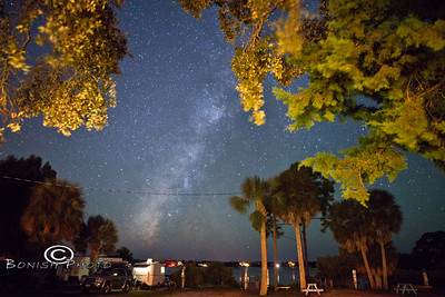 Heavens Opening up Above Sunset Isle RV Park - Cedar Key FL - Photo by Pat Bonish