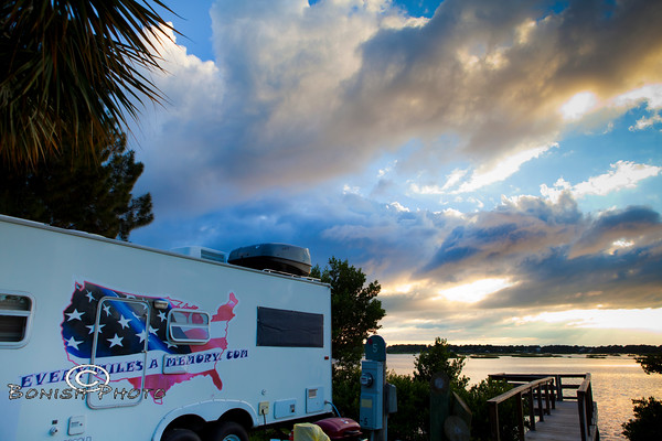 Camped at Suset Isle RV Park - Cedar Key Florida - Photo by Pat Bonish
