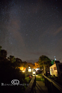 Sunset Isle RV Park bathed in Milky Way Glory - Cedar Key Florida - Photo by Pat Bonish