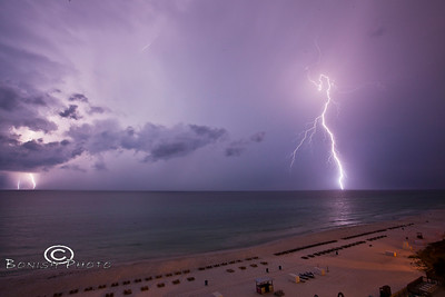 Lightning Over Panama Cith Beach - Photo by Pat Bonish