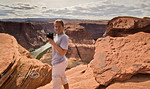 Cindy shooting her rendition of Horseshoe Bend - Arizona